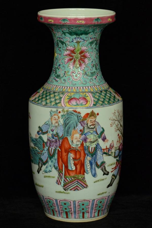$1 Large Chinese Famille Rose Vase Figure