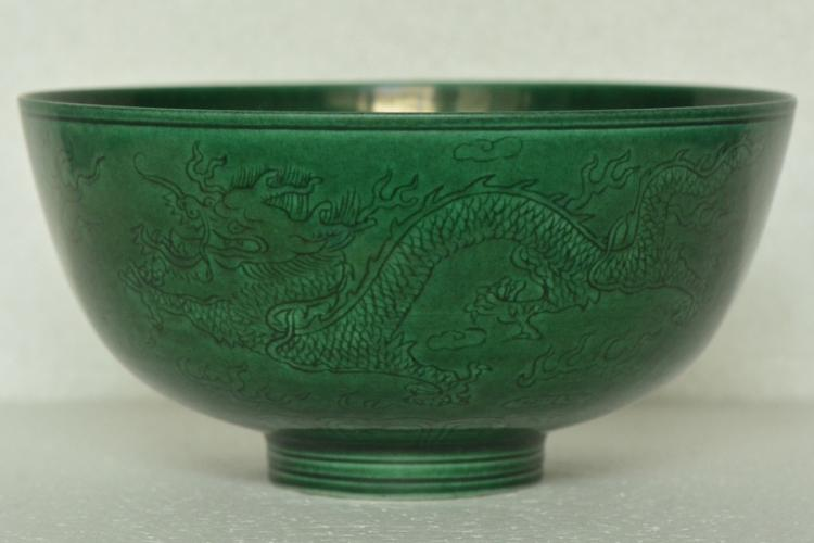 $1 Chinese Porcelain Bowl Kangxi Mark and Period
