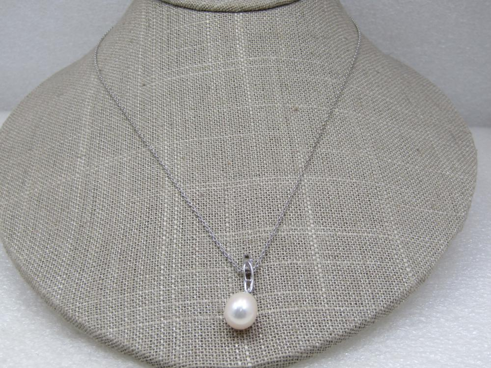 """Vintage Sterling Baroque Pearl Necklace, 18"""" Signed YXY"""