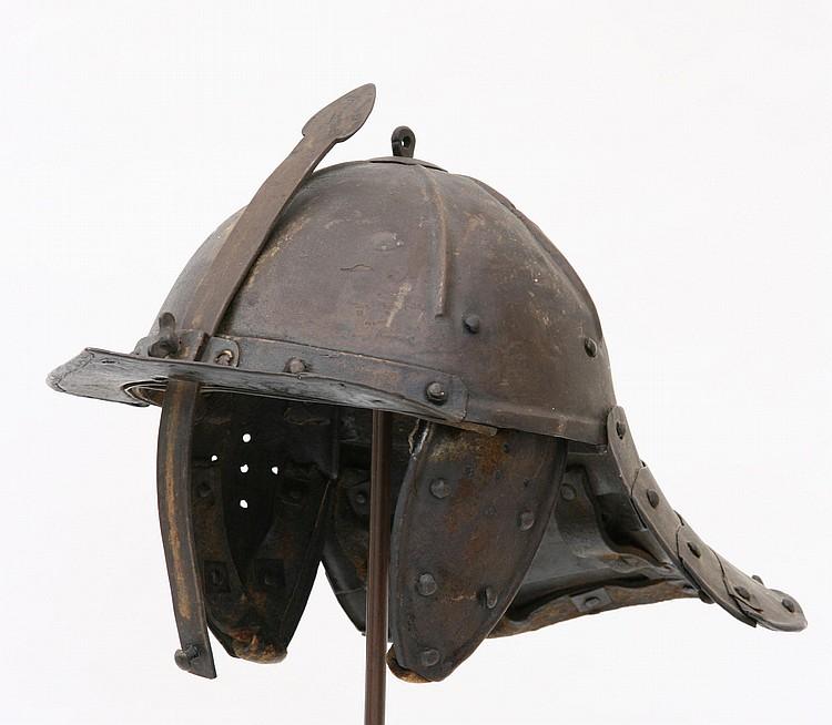 17th Century Style Lobster Pot Helmet steel bowl