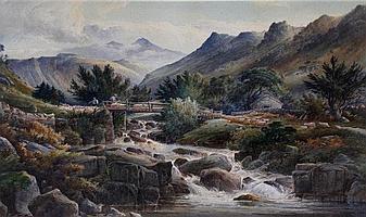 Joshua Renshaw (1813-1872) - 'In Borrowdale,