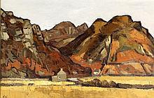 Sir Kyffin Williams RA KBE (British, 1918-2006) - 'Maentworg Valley, Snowdo