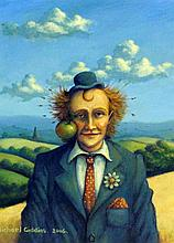 Michael Giddins (British, 20th / 21st Century)- 'Apple of Eye' Oil, signed