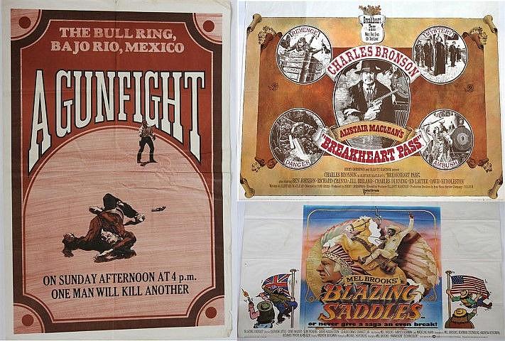 Three original movie posters 'Breakfast Pass'. quad, circa 1976, 'Blazing S