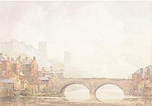 John Ernest Aitken R.S.W. (1881-1957) ''Durham'' Signed watercolour, framed