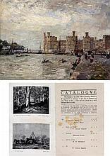 Herbert Royle (British, 1870-1958)- 'Carmarthen castle' Oil on board, signe