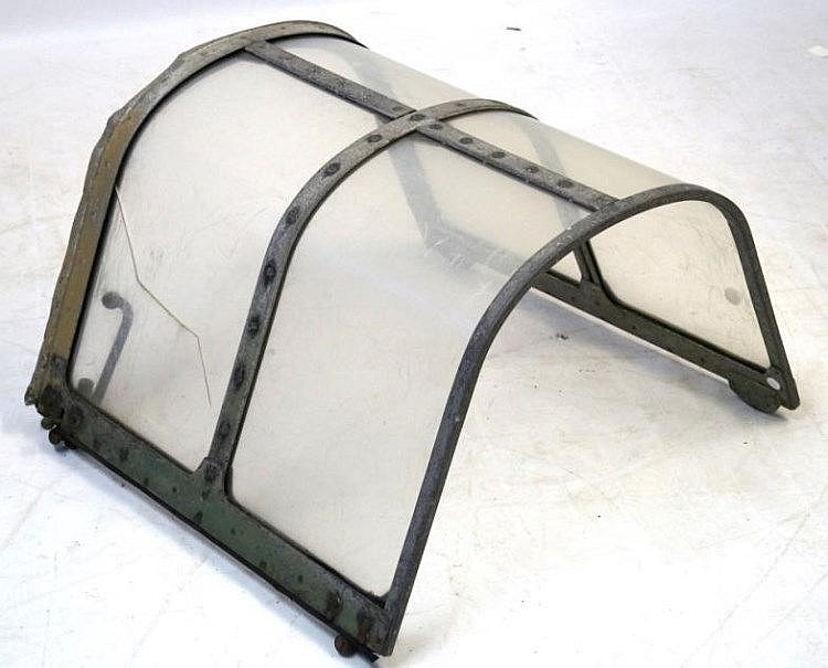 A WWII Period MIS 32 Aircraft Canopy These Canopies Were Used In The Spitfire