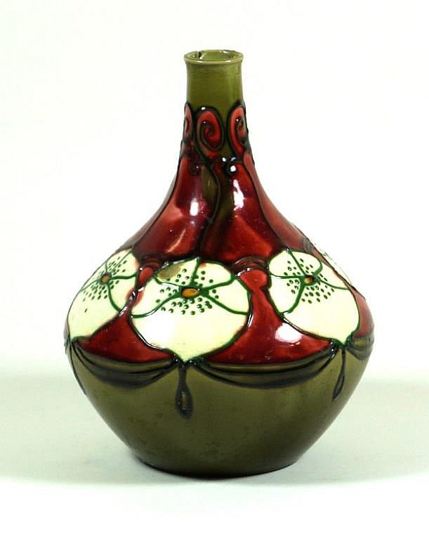 minton secessionist range vase of bulbous form with cylindri. Black Bedroom Furniture Sets. Home Design Ideas