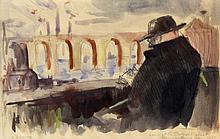 Mervyn Levy (British 1915-1996), 'Lowry at the