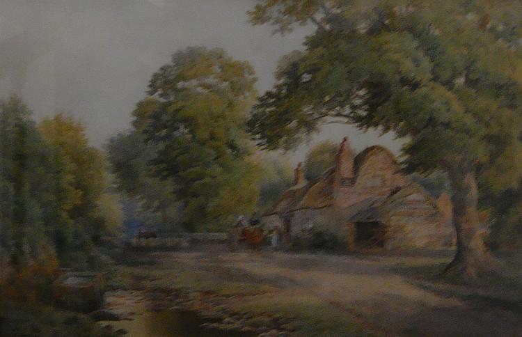 Robert Dobson (fl.1850-1881); The New Inn, near