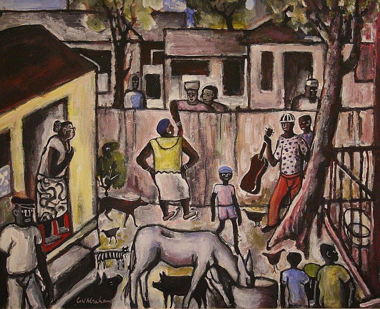 Carl abrahams artwork for sale at online auction carl for Jamaican arts and crafts for sale