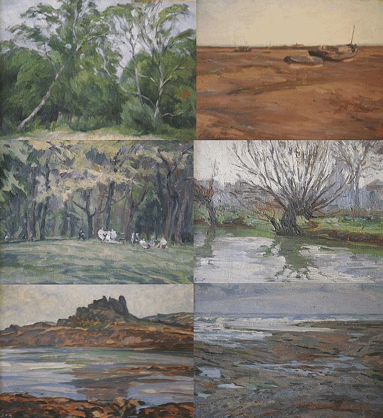 Walter Durac Barnett (1876-1961) - six oils on