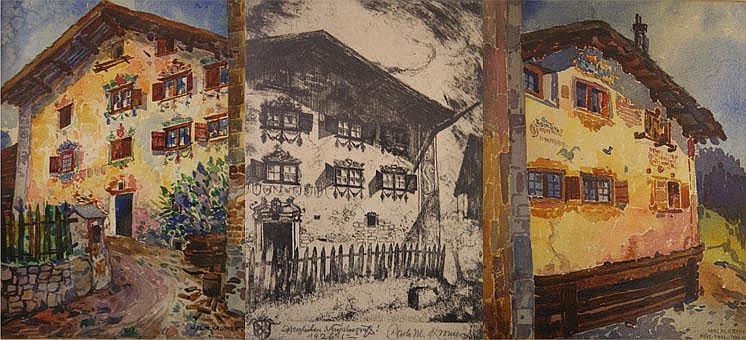 Carl Maximilian Kromer (1889-1964); Alpine houses,