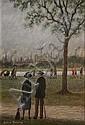 Arthur Delaney (1927-1987)-'A Park Scene (Peel, Arthur  Delaney, Click for value