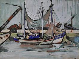 Charles Messent (1911-1971) - watercolour, sailing