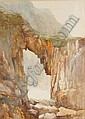 Arthur Basset Waller (1882-1974) Nature's architecture, Sark watercolour, signed 13 x 9.5in (33 x 24cm).