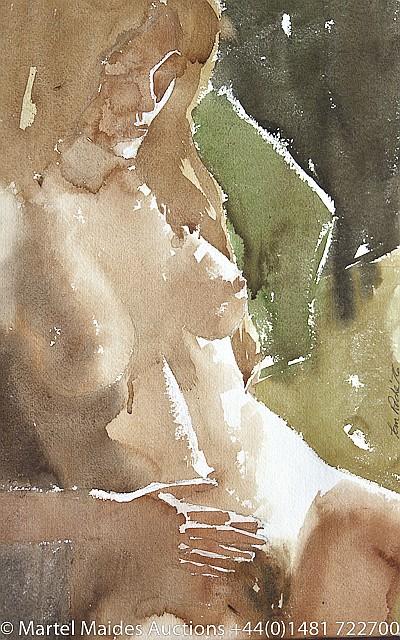 Tom Roche (Irish, b.1940) Female nude