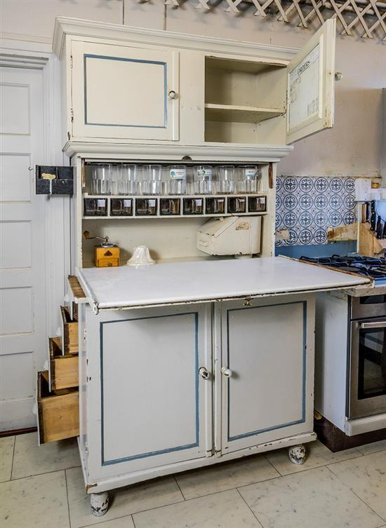 A Retro 1950s Quicksey Kitchen Dresser White Paint With