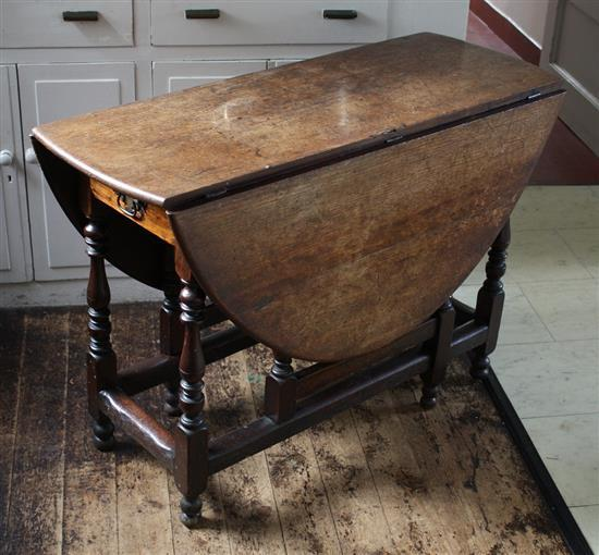 An early 18th century mahogany gate leg table with demi lune - Gateleg table with drawers ...