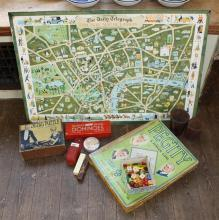 'The Daily Telegraph Picture Map of London' c.1951, Geographia Ltd., pasted on card,