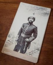 A fine portrait photograph of the Prime Minister of Nepal - Field-Marshal Maharaja Sri Teen Chandra Shumsher Junga Bahadur Rana, GCB,