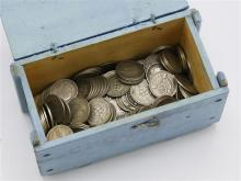 A collection of 19th and early 20th century silver three penny coins approx. 190 in total.