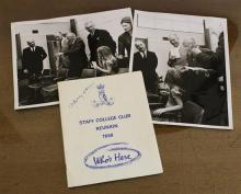 Field-Marshall Montgomery interest a programme for the Staff College Club Reunion 1968,