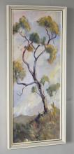 Mrs. Bunting (Australian, c.1978) Study of a eucalyptus treeoil on canvas, annotated to label verso21½ x 8½in. (54.5 x 21.5cm.)