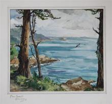 Margaret Broad (British, 20th century) ''Pine Forest, Guernsey''watercolour, signed,