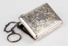 An Edwardian silver finger ring purse Arthur Cook, Birmingham 1902,