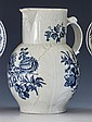 A first period Worcester blue and white mask jug c.1775,