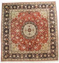 A good quality silk and wool Tabriz rug Iranian,