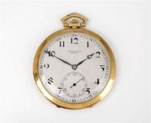 A Zenith 18ct gold open face Art Deco style pocket watch 1940s-50s, the silvered 40mm. Arabic dial signed 'Chronométre Zenith',