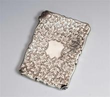 A late Victorian silver card case Frederick Marson, Birmingham, 1889,