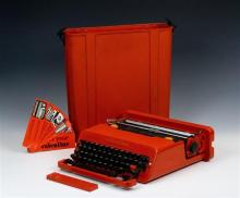 Italian Valentine portable typewriter designed by Ettore Sottsass for Olivetti 1969,