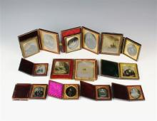 A collection of family related daguerreotypes mid-19th century,