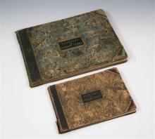 Two extremely rare bound copies of Moss prints c.1829, both titled 'Guernsey & Jersey Views', pub. M. Moss. Bookseller, Guernsey,