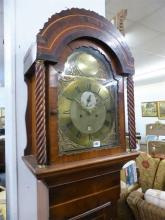 An 18th century mahogany eight day longcase clock by William Flint of Charing, Kent the twin train movement striking on a bell,