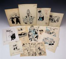 A large collection of original cartoons by British newspaper cartoonists 1950s-70s,