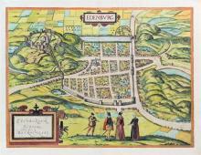 Braun, Georg (1541-1622) and Franz Hogenberg (1538-1590) Edenburg: Edenburgum Scotiae Metropolis,