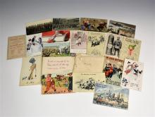 An interesting collection of First World War postcards confiscated by the Censor Department all with handwritten messages,