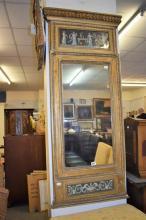An Italian gilt and composition rectangular pier mirror early 19th century,