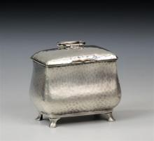 An Edwardian novelty silver sugar box in the form of a tea caddy Jay, Richard Attenborough Co. Ltd., London 1904,