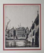 Ian Strang, RE (British, 1886-1952) Fishmonger's Hall, Londonetching, signed and dated 1923 lower right in pencil.