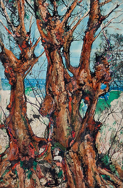 Charles Wollaston (British, b.1914) The mistletoe tree