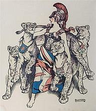 John Byam Liston Shaw (British, 1872-1919) Britannia with lionesses