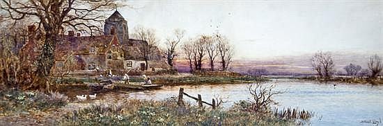 Stuart Lloyd (British, fl. 1875-1929) A Sussex village on the Arun