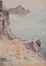 Arthur Bassett Waller (British, 1882-1974) Channel Island coastal view