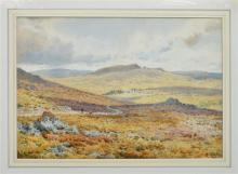 Arthur Suker (British, 1857-1902) Moorland landscapewatercolour, signed lower right14 x 21in. (35.5 x 53.4cm.)