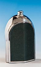 Automobilia - a chrome Bentley grille decanter by Ruddspeed Ltd., arched mesh grille within chrome casing with the winged B badge,